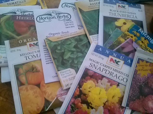 "My ""Start in April"" seed packets"