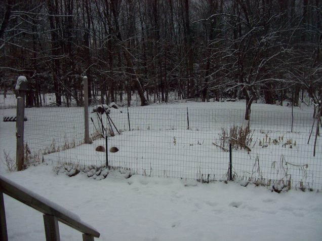 late december snow
